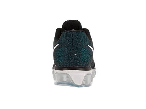 Nike Mens Air Max Medvind 8 Ankel-hög Löparsko Svart / Hav Dimma / Gamma Blå / Vit