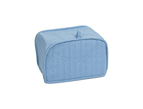 Ritz Polyester/Cotton Quilted Four Slice Toaster Appliance Cover, Dust and Fingerprint Protection, Machine Washable, Light (Blue Appliance)