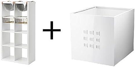 IKEA - Estantería con 4 compartimentos, color blanco, tamaño ...