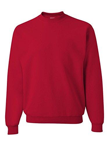 Jerzees Men's NuBlend Crew Neck Sweatshirt, True Red, X-Large