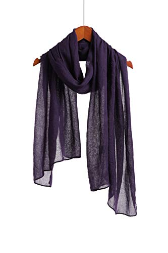 Jeelow Scarf Shawl Wrap Soft Lightweight Scarves And Wraps For Men And Women (Dark Purple)