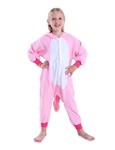 cosMonsters Kids Unicorn Onesie Animal Pajamas Christmas Cosplay Costume for Girls and Boys(Pink,10) …