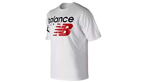New Balance Men's Athletics Crossover Short Sleeve T-Shirt, White, Large