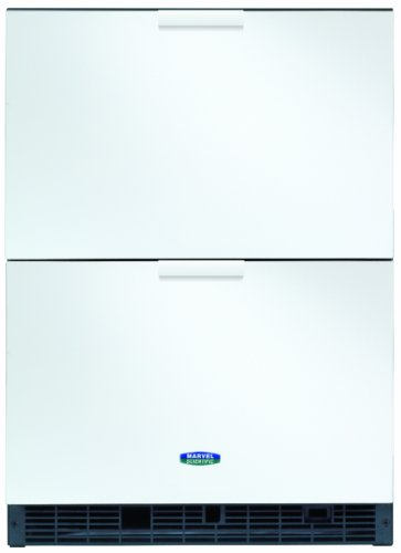 - Marvel Scientific 6CRDE011 Two-Drawer Undercounter Refrigerator, Door Color White, Cabinet Color White