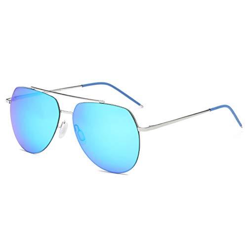Gun Sol Los Las Sol de La Sol La La De De Color Mujeres De Polarizadas LBY Gafas Gafas De Pesca De Hombres De Gafas Frame Hombre Frame Blue Impulsión para Lens Silver Y De Lens Lente Gray wqCTx14c
