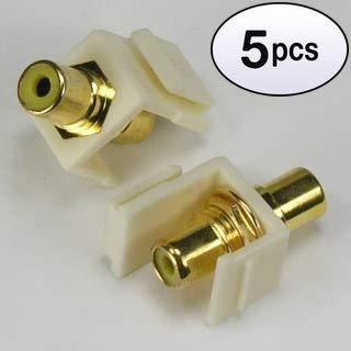 GOWOS (5 Pack) RCA Yellow F/F Keystone Module - Module Bnc Keystone