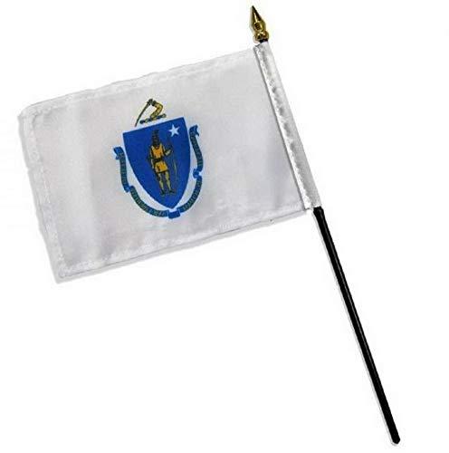 Kaputar 4x6 Massachusetts Stick Flag Table STF Desk Table | Model FLG - 7709]()