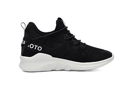 Zapatillas Atléticas Zapatillas De Moda Zapatillas De Deporte Malla Casual Suela Suave Ligera Transpirable Negra
