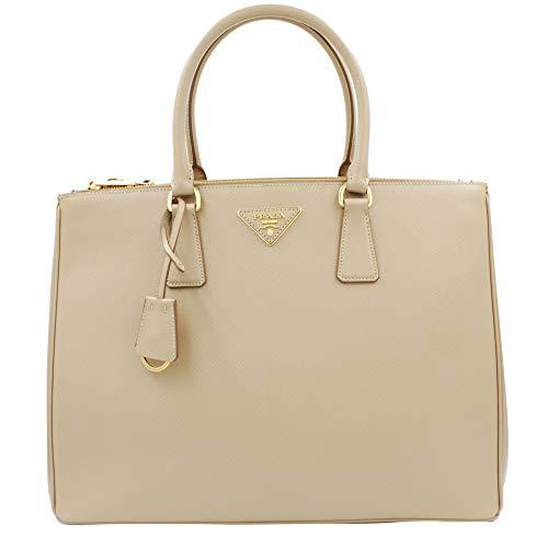 (Prada Women's Tote Bag Saffiano Leather in Cammeo Style 2274)