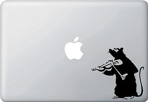 Violin Rat - Vinyl Laptop or Macbook Decal (Violin Practice Notebook)