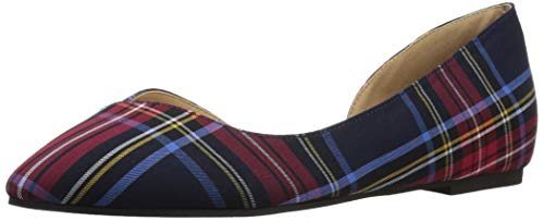 (CL by Chinese Laundry Women's Hiromi Ballet Flat, Navy/RED Plaid, 7.5 M US)