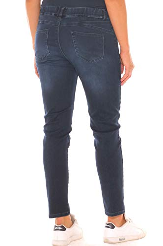 Con Super Emanuela In Donna Strass Denim Costa Jeans Stretch Taglia Morbida Skinny Fwf8wZUq