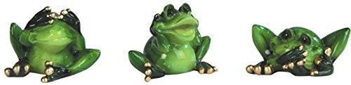 StealStreet See, Speak, Hear No Evil Frog (Set of 3)