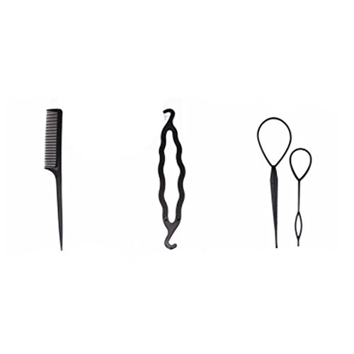 ULAKY 4pcs Disk Hair Device Black New Set of Four-Piece Set of Equipment, The Plate Sets of Hair, Hair Ornaments Set, Four Sets Tools