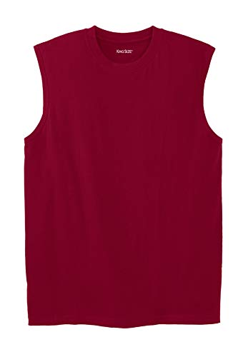 - KingSize Men's Big & Tall Lightweight Muscle T-Shirt, Rich Burgundy Big-5Xl