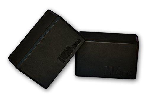 HimYoga Foam Yoga Blocks, set of 2, 9 inch x 6 inch x 4 inch, High Density EVA Bricks, Black