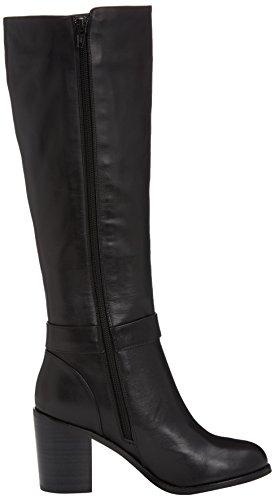 Buffalo London 414-9334 SILK LEATHER - botas de caño alto de cuero mujer negro - Schwarz (BLACK851)