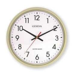 GENEVA 5H351 Clock, Electric, Round