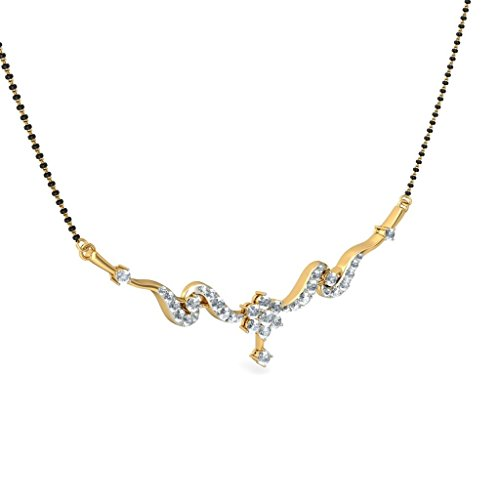 Or jaune 18 K 1,15 CT TW White-diamond (IJ | SI) Mangalsutra