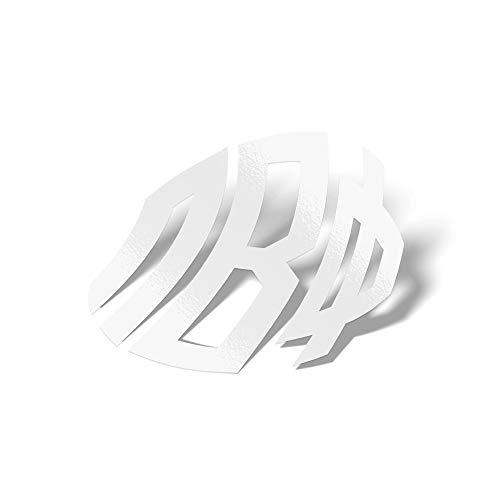 Pi Beta Phi Sorority White No Border Monogram Sticker Decal Greek Letter 4 Inches Round for Window Laptop Computer Car Pi Phi