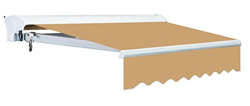 Advaning MA1610-A100H2 Manual Luxury L Series Window/Door Canopy Sun Shade Patio Retractable Awning, Khaki (Motorized Sun Shade compare prices)