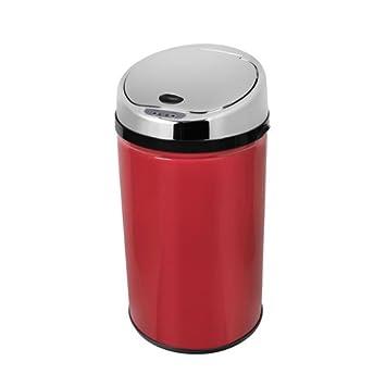 30/L Morphy Richards 971496//MO Redonda Basura con Sensor Color Rojo