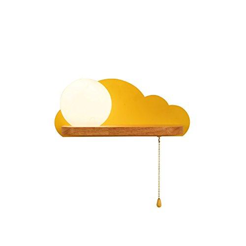 HAIZHEN ブラケットライト 北欧のソリッドウッドのベッドサイドランプクリエイティブウォールランプシンプルな子供の部屋の照明ベッドルームの壁ランプ(プルラインスイッチ) B07C27B918 11490