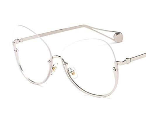 gafas para Huyizhi gafas Guay protección medio decoración Unisex Silver gafas aire UV400 de al viajar libre marco sol rXZwZxd8