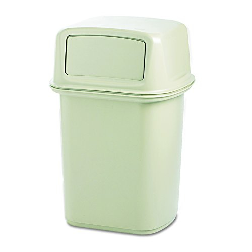 Rubbermaid Commercial Structural Foam 45-Gallon Ranger Fire-Safe Trash Can, Square, (Ranger Trash Container)