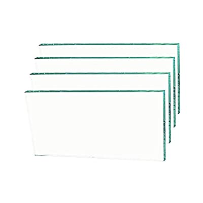 Zeyu Clear Glass Replacement for 02A151 BK/02A151-2PK BK, 4 PCS: Home Improvement