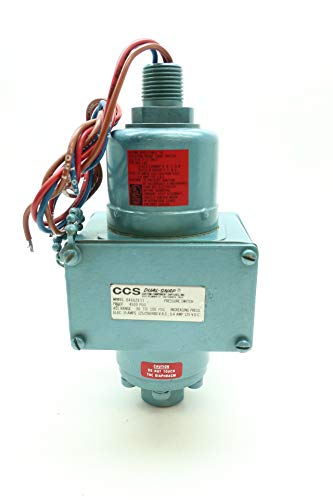 (CUSTOM CONTROL SENSORS 646GZE11 Pressure Switch 30-100PSI 480V-AC)