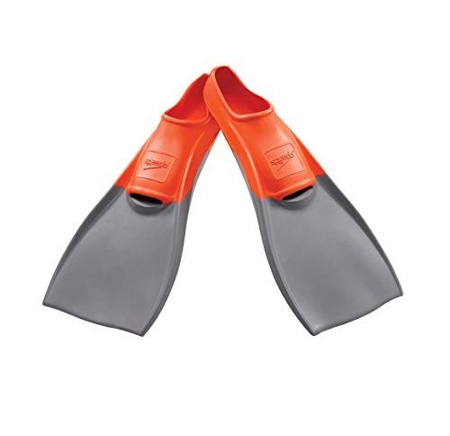 Speedo Rubber Swim Training Fins - XXS (Y 1-3) - Orange