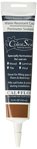 Walnut Laminate Flooring - CalFlor CA49606CF Walnut ColorSeal Flexible Sealant for use on Wood, Laminate, Tile, Stone, Vinyl and Any Hard Surface, 5.5 oz,