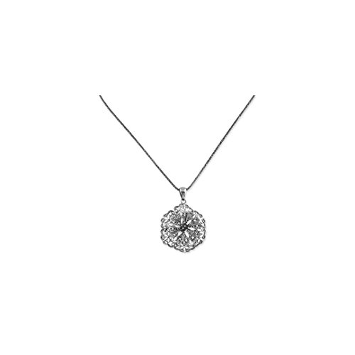 ICE CARATS 925 Sterling Silver 18 Pol Enamel Vintage Lace Flower Chain Necklace Pendant Charm Floral Fine Jewelry Ideal Gifts For Women Gift Set From Heart