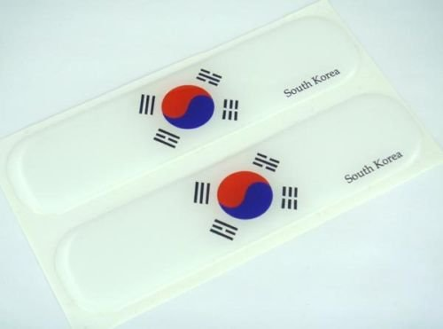 South Korea, Korean Flag Domed Decal Emblem Car Flexible Sticker 5