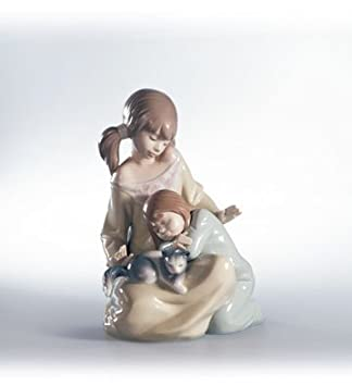 Lladro Little Sister Glaze Finish Figurine