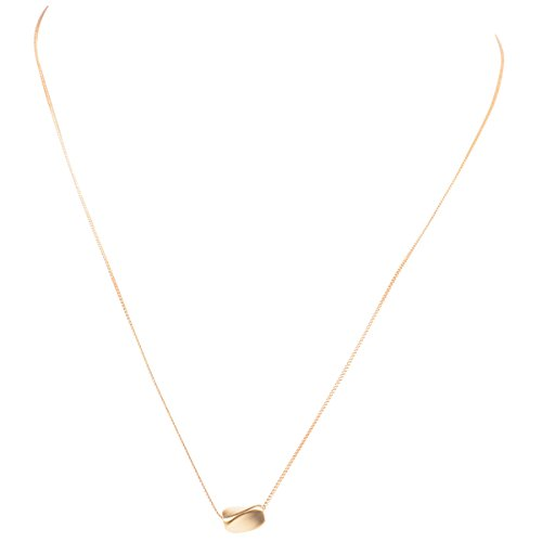 """- 16k Gold Plated Nugget Bead Pendant Necklace with 17"""" Chain and 2"""" Extension by Zoetik"""