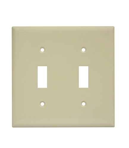 Enerlites 8812-I Toggle Light Switch Wall Plate, Ivory (2-Gang)
