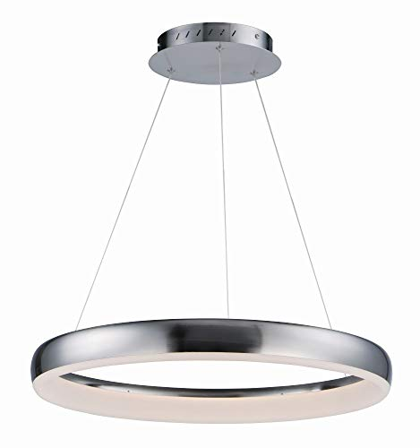 (ET2 E10030-SN Innertube Pendant, 1-Light LED 28 Watts, Satin Nickel)