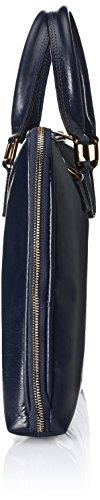 en de mujer 100 CTM Bolso Italia cartera Azul Fabricado Piel Verdadera Scuro Blu RqZw8HUwx