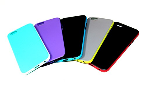 iPhone 6 Case, EZstation 5 Pack Soft Flexible Silicone Gel Rubber Case Cover For iPhone 6 6S (Total of 5 Cases Included For iPhone 6 or 6S _ 4.7
