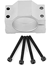 LANTRO JS-52/65mm Motor Mount Clamp Optional Diameter Aluminum CNC Spindle Motor Mount Bracket Clamp Replacement for 3D Printing CNC Engraving Millng Machine (52MM)