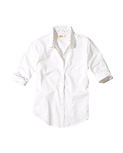 hollister-womens-button-down-shirt-m-white-patterned