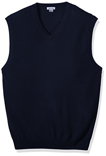 s Big and Tall 100% Cashmere V-Neck Sweater Vest, Navy, 4X (Cashmere V-neck Sweater Vest)