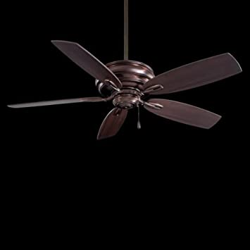 Minka-Aire F614-DBB, Timeless 54 Ceiling Fan, Dark Brushed Bronze Finish with Dark Maple Blades