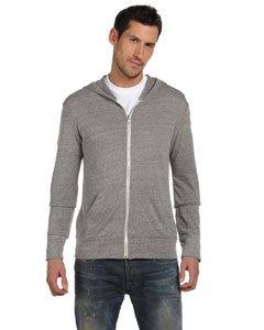 Alternative Mens 4.4 oz. Eco Long-Sleeve Full-Zip Hoodie (AA1970) -ECO Grey -M ()