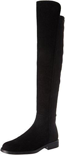 KMB WoMen John Overknee Boots Black (Black 1)