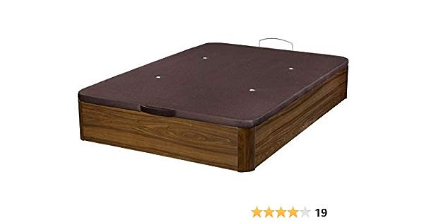 Santino Canapé Abatible Wooden Gran Capacidad Nogal 150x190 cm con Montaje a Domicilio Gratis