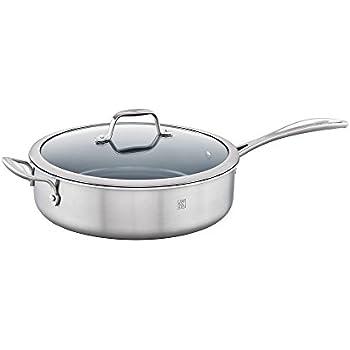 Amazon Com Spirit Nonstick 5 Qt Saute Pan With Lid
