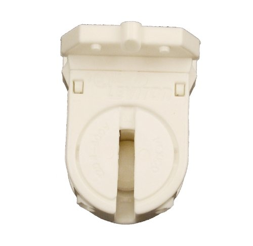 Leviton 13654-SWP Miniature Base, T5 Bi-Pin, Standard Fluorescent Lampholder, Low Profile, Snap-In or Slide-ON, Lamp-Lock,Quickwire 18AWG, - Low Lights Fluorescent Profile